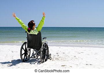 vrouw, succesvolle , invalide