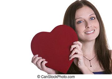 vrouw, valentines
