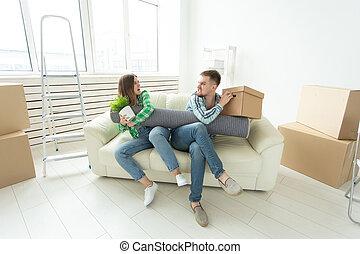 vrouwen, echtgenoot, tussen, vecht, andere., vrouw, ruzie, strijd, gezin, men., elke, deling, eigendom, divorce., krachtmeting