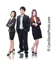 vrouwen, gevormde, mannen, handel team