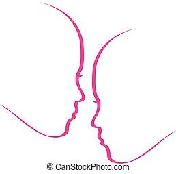 vrouwen, het fluisteren