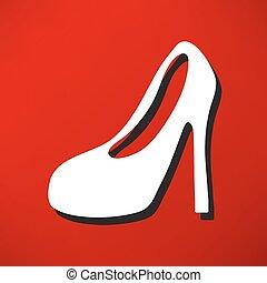 vrouwen, laarzen, pictogram