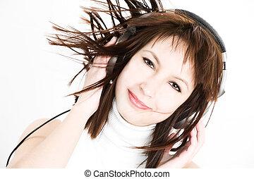 vrouwen, luisteer naar muziek