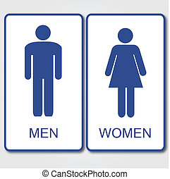 vrouwen, mannen, meldingsbord