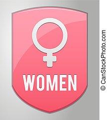 vrouwen, meldingsbord