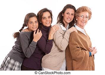 vrouwen, van, de, gezin