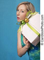 vrouwenholding, een, cadeau