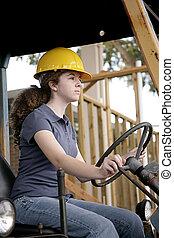 vrouwlijk, bouwsector