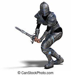 vrouwlijk, fantasie, ridder