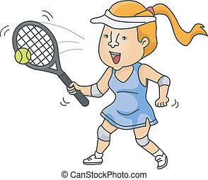 vrouwlijk, tenniser