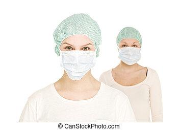 vrouwlijk, verpleegkundigen