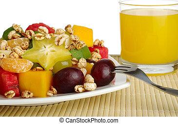 vrucht slaatje, tropische