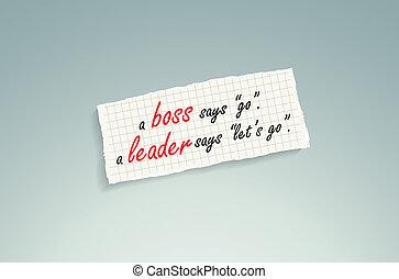 vs , αρχηγός , αφεντικό