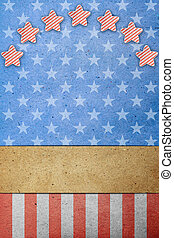 v.s., arbeid, vlag, 4, juli, dag