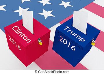 vs, briscola, elezione, concetto, clinton