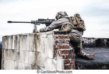 v.s., leger, sluipschutter