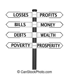 vs, ubóstwo, bogactwo