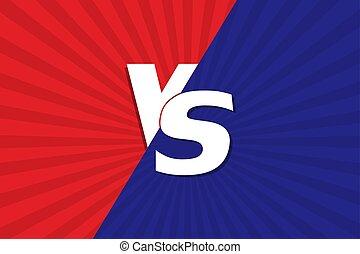 VS Versus Blue and red comic design. Vector illustration