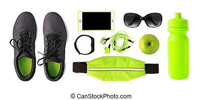 vue, équipement, sport, sommet, accessoires