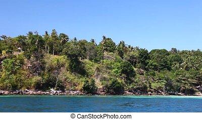 vue, 20, bateau, île