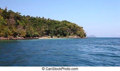 vue, 21, bateau, île