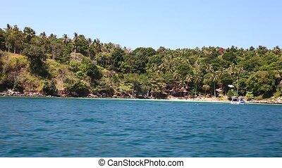 vue, 22, bateau, île