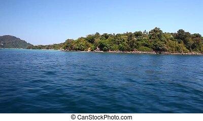 vue, 24, bateau, île