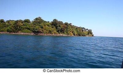 vue, 25, bateau, île