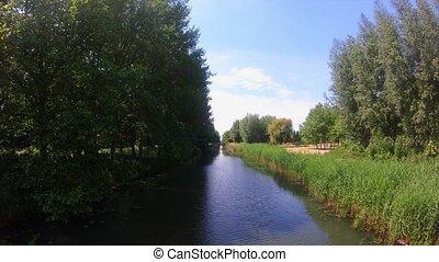 vue, 4k, rivière, canal, surprenant