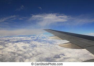 vue, aérien, clouds.