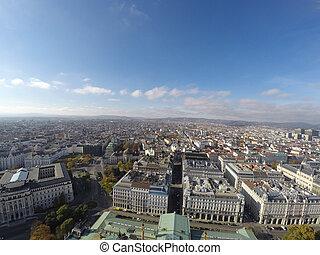 vue, aérien, Vienne