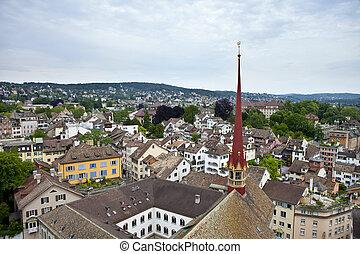 vue, aérien,  Zurich