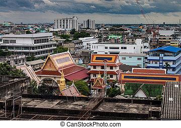 vue aérienne, de, bangkok, thaïlande