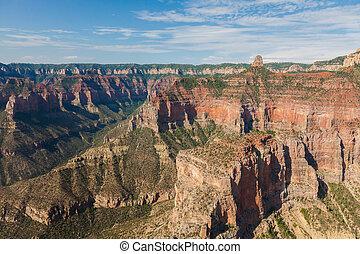 vue aérienne, de, grand canyon parc national, dans, arizona