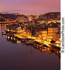 vue aérienne, de, porto, portugal