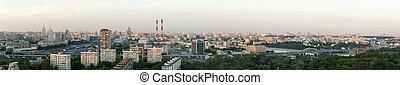 vue aérienne, de, ville, moscou