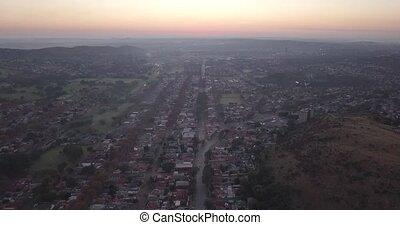 vue, architecture, aérien, johannesburg, afrique, sud