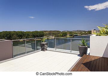 vue, balcon