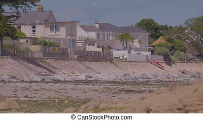 vue, beachfront, grand, jersey, maisons