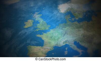 vue, carte, mondiale, europe, occidental