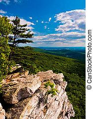 vue, depuis, annapolis, rochers, long, les, appalachian,...