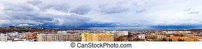 vue, divers, ville, panoramique, kharkov, bâtiments