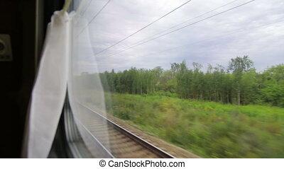 vue fenêtre, train's