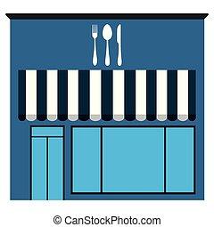 vue frontale, restaurant