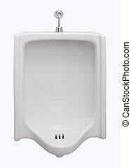 vue frontale, urinoir, toilettes