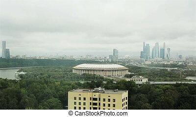 vue, gratte-ciel, moscow-city