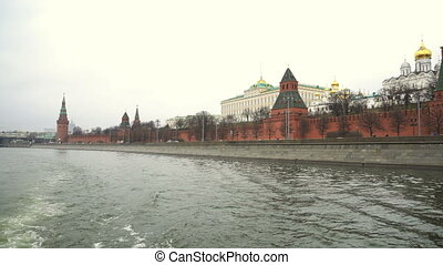 vue, kremlin, palais, grandiose