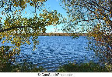 vue, -, lac, lapin, minnesota
