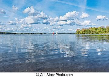vue, lake.