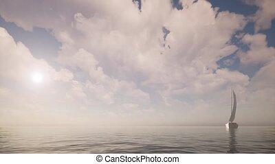 vue, mer, voilier, paysage, panoramique, aventure, tourisme